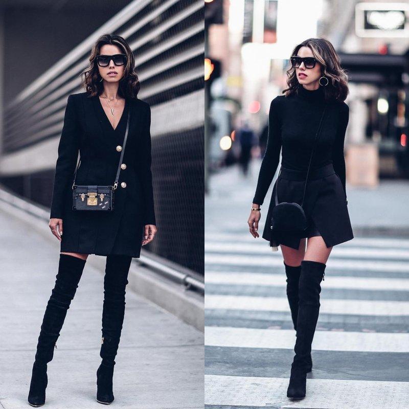 Стильная одежда черного цвета