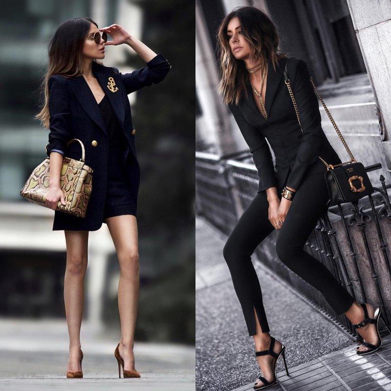 Черная одежда весной: новинки