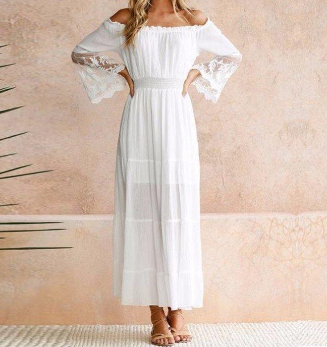Свадебное платье-крестьянка