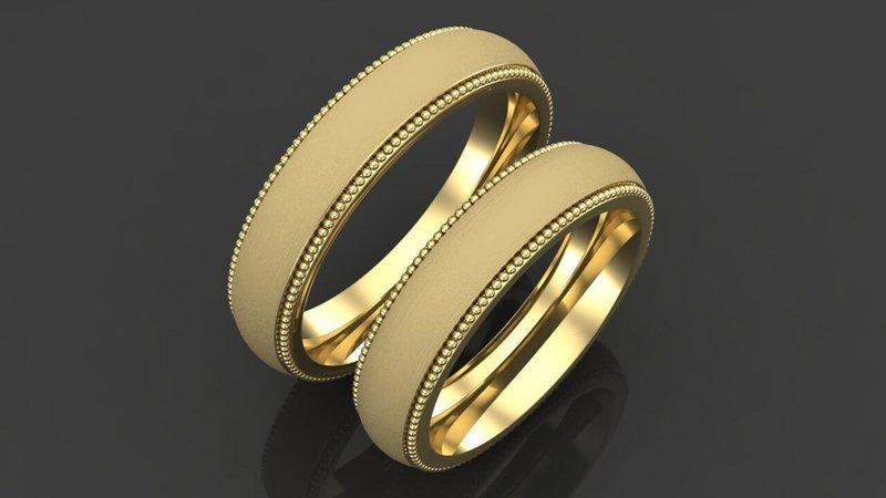 Нежные изделия для свадьбы с огранкой