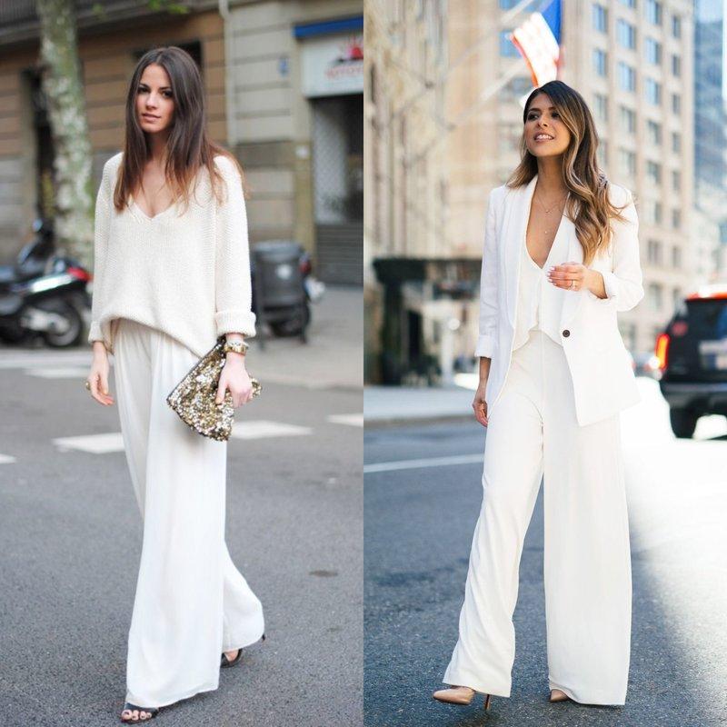 Весенний костюм нежно-белого цвета