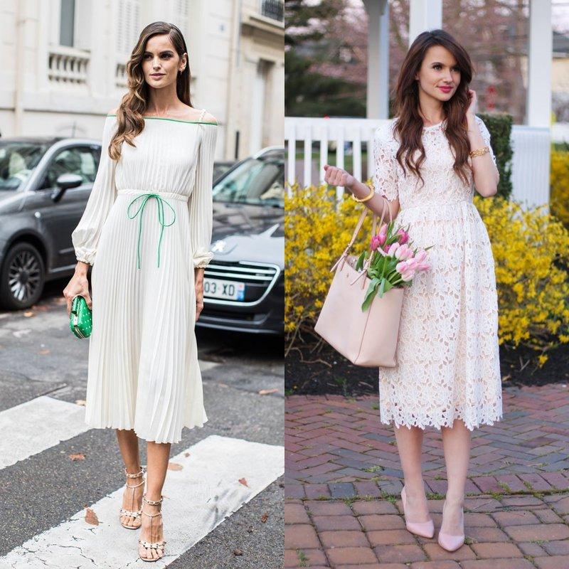 Романтичный образ в белом платье