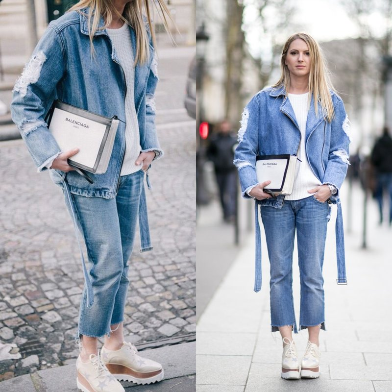 Total denim: весенние луки