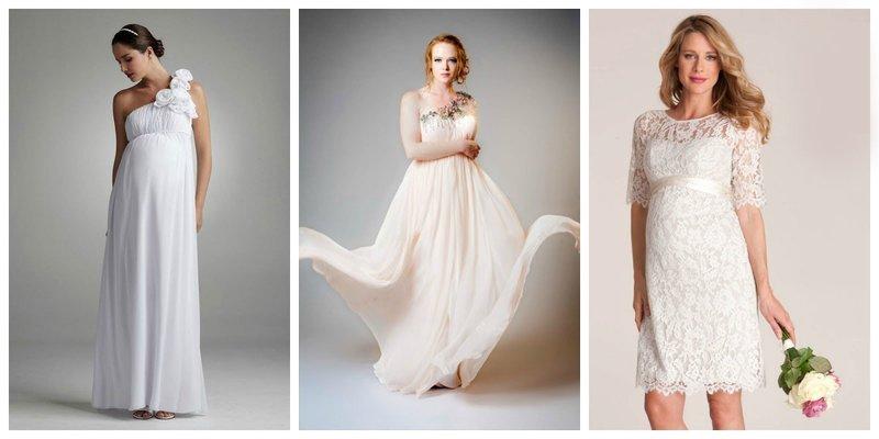 Виды свадебных платьев для беременных