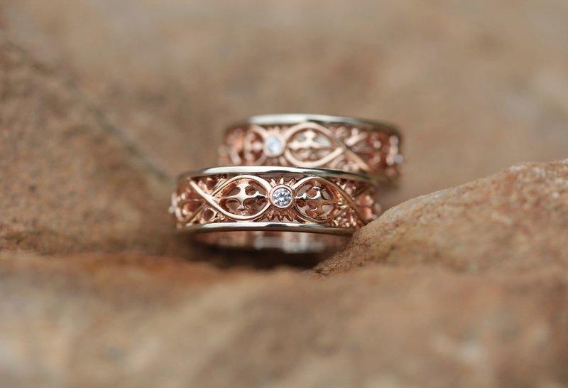 Кольца на свадьбу в старинном стиле