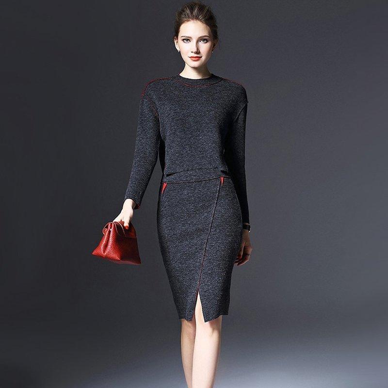 Офисное зимнее платье