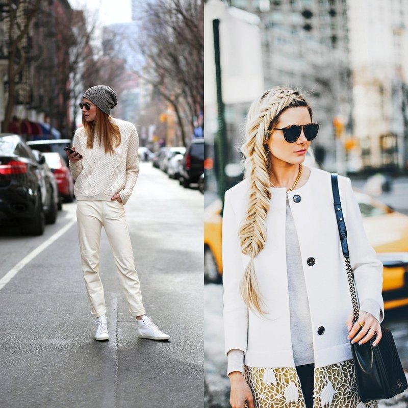 Стильные луки в белом: тренды на весну-лето