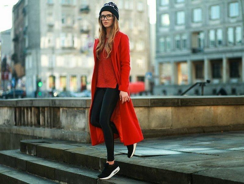 Модные образы в красном