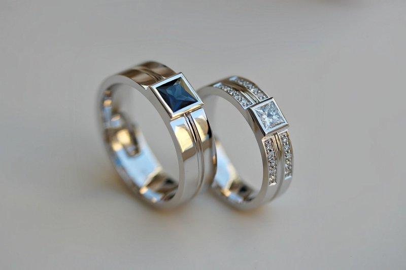 Эксклюзивные кольца на свадьбу с бриллиантом