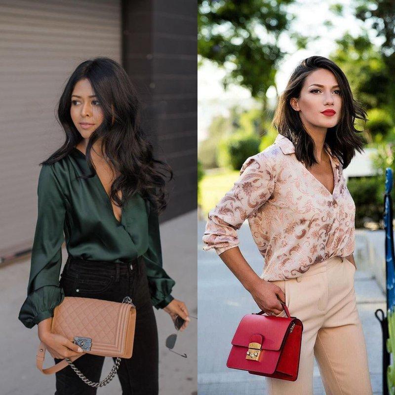 Классический образ в стильной блузке