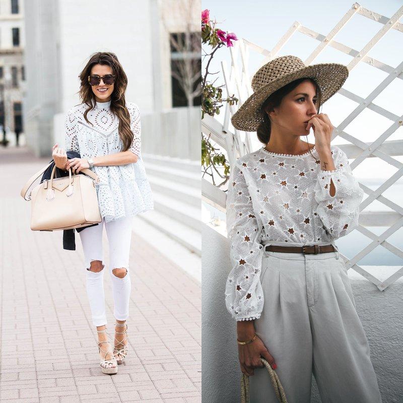 Блузки в классическом белом цвете
