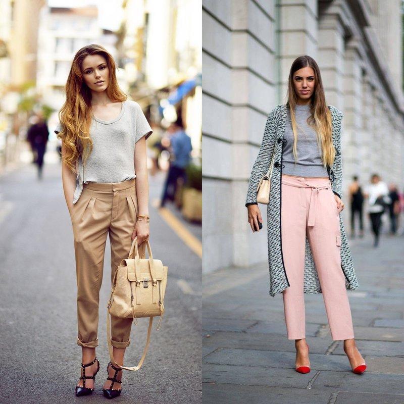 Девушки в брюках: весенние образы