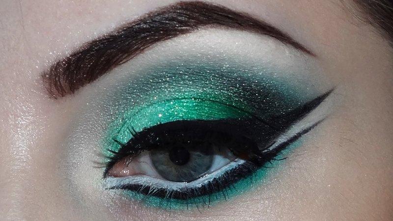 Макияж для зелёных глаз
