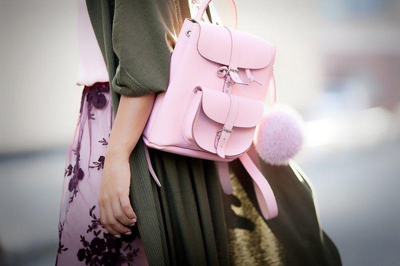 Рюкзак нежного оттенка