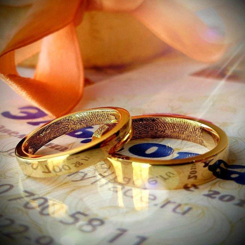 Классическая модель колец на свадьбу