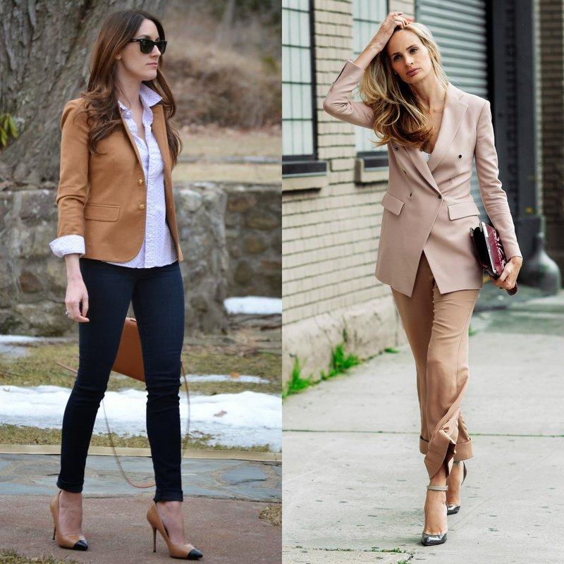 Модная девушка в стильном пиджаке