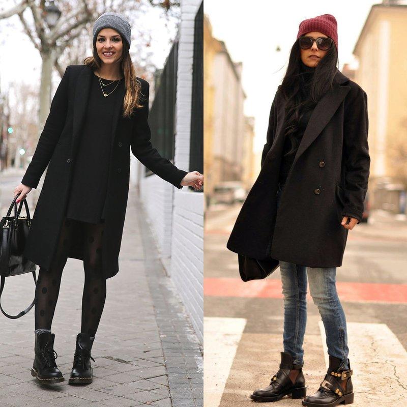 Модные весенние образы в черном