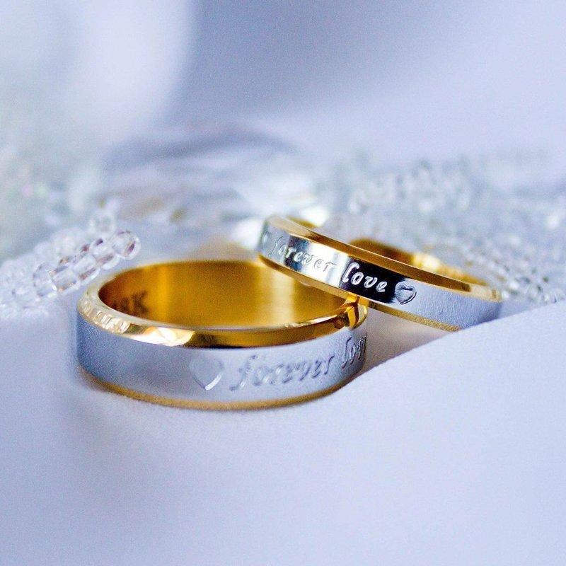 Свадебные колечки с надписью