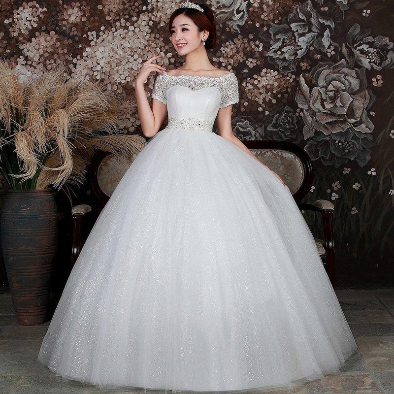 Пышное свадебное платье для беременной