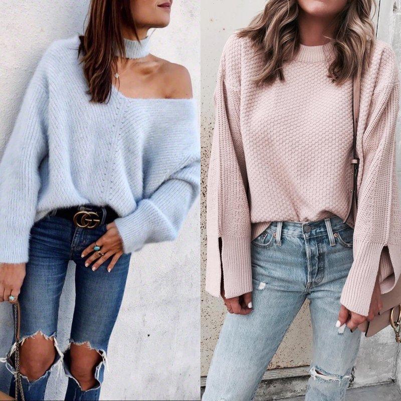 Женственные образы в свитере