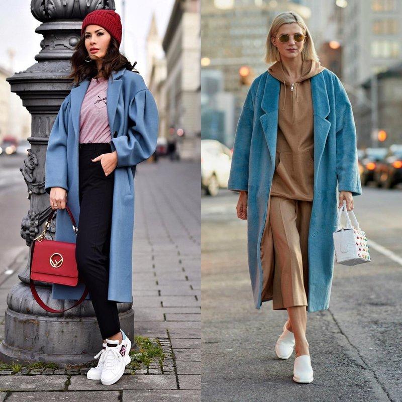 Модные пальто размера оверсайз