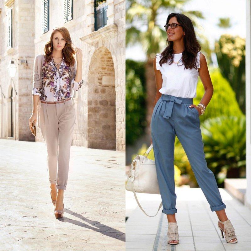 Модные модели весенних брюк