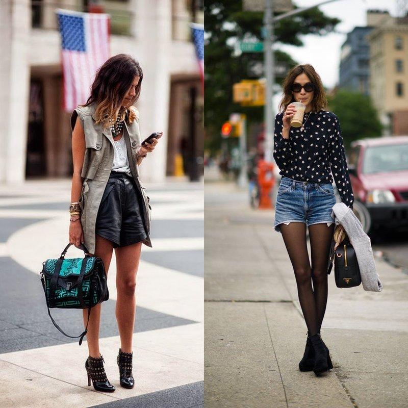 Модные образы на весну в коротких шортах