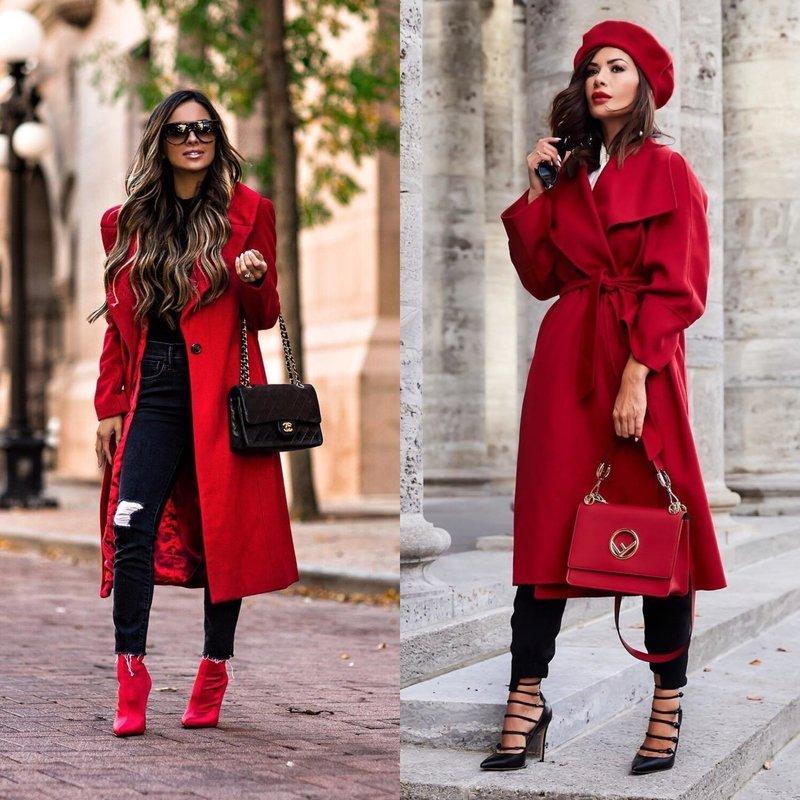 Модные весенние образы в пальто