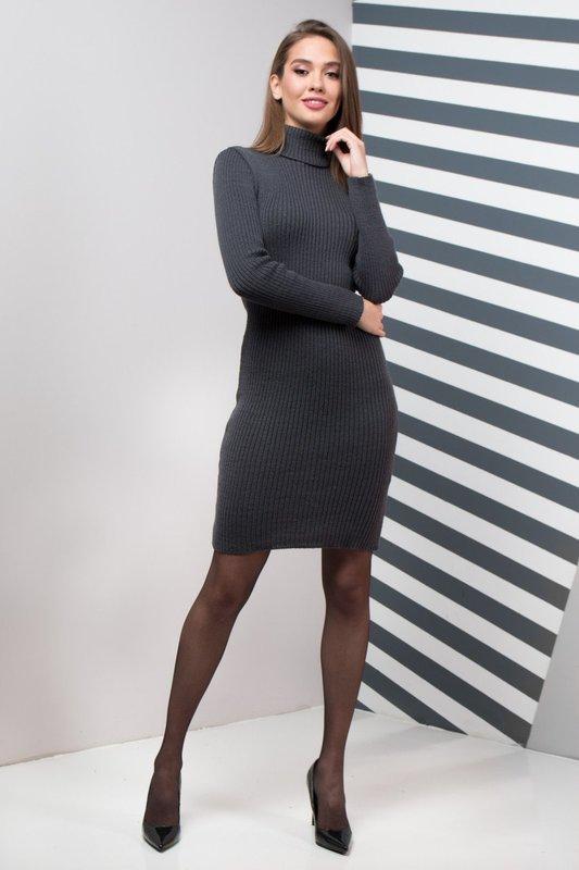 Зимнее офисное платье