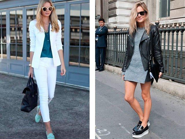 Лоферы с шортами и брюками