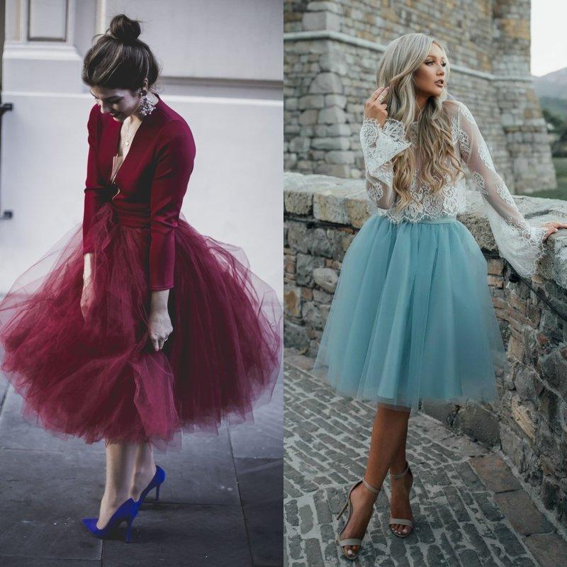 Пышные короткие вечерние платья