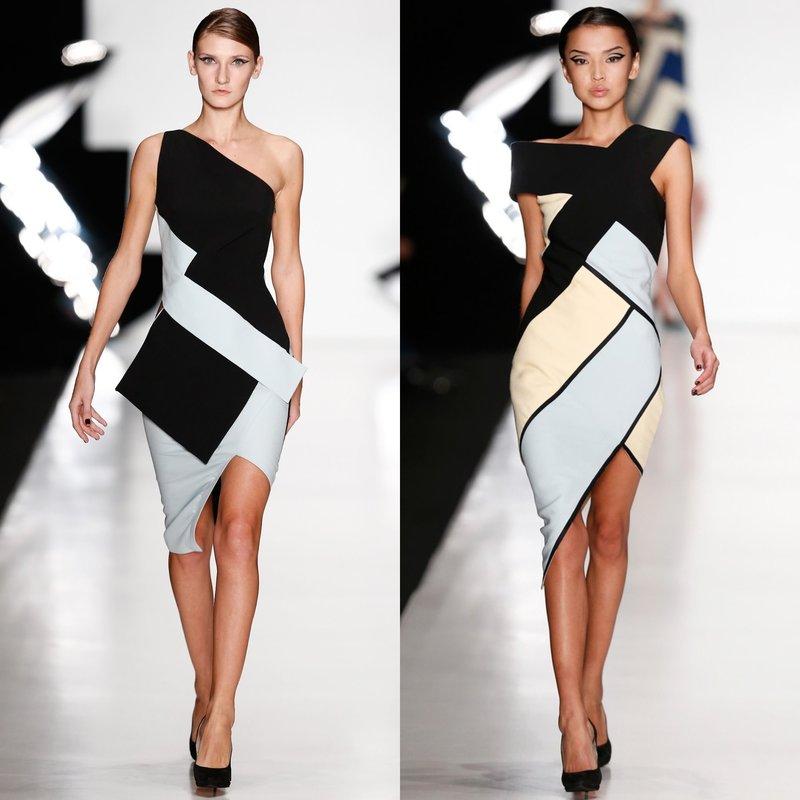 Вечерние платья с геометрическим принтом