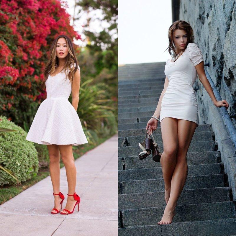 Белые короткие платья