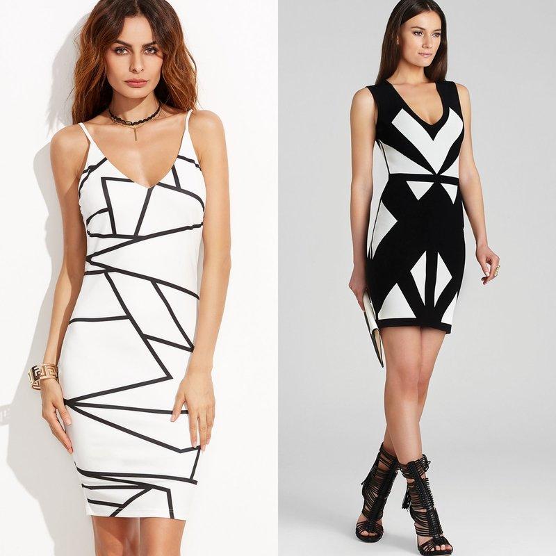 Короткие платья с геометрическим узором