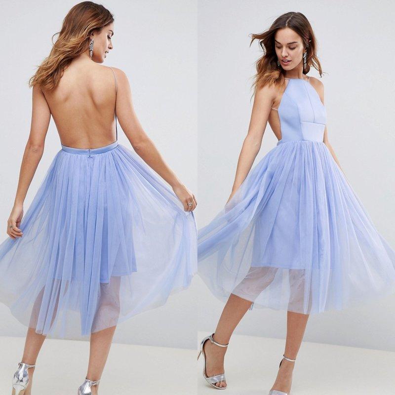 Вечернее платье пастельного оттенка