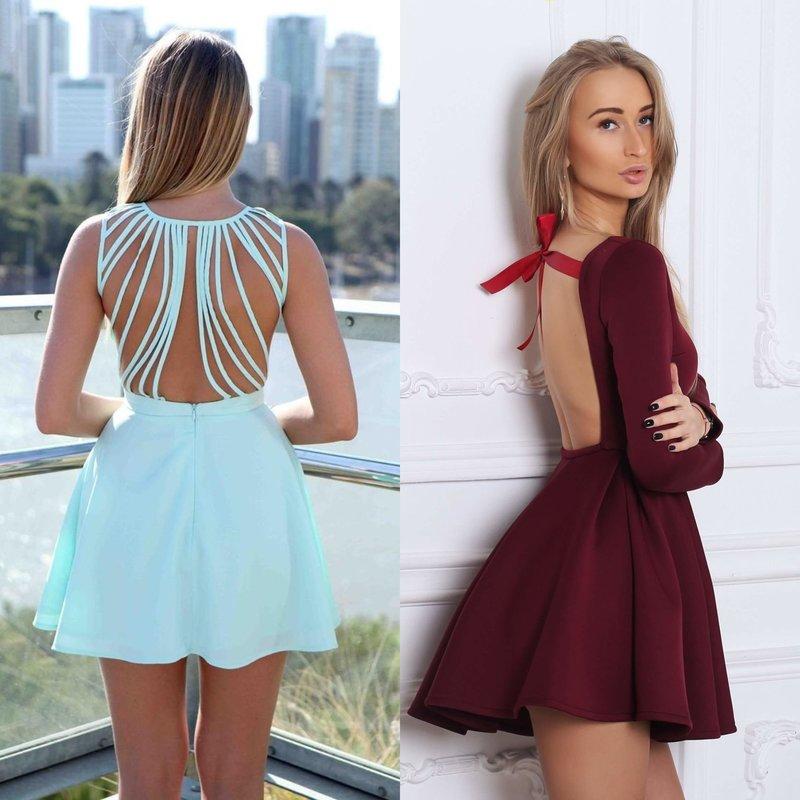 Вечерние короткие платья: модные образы