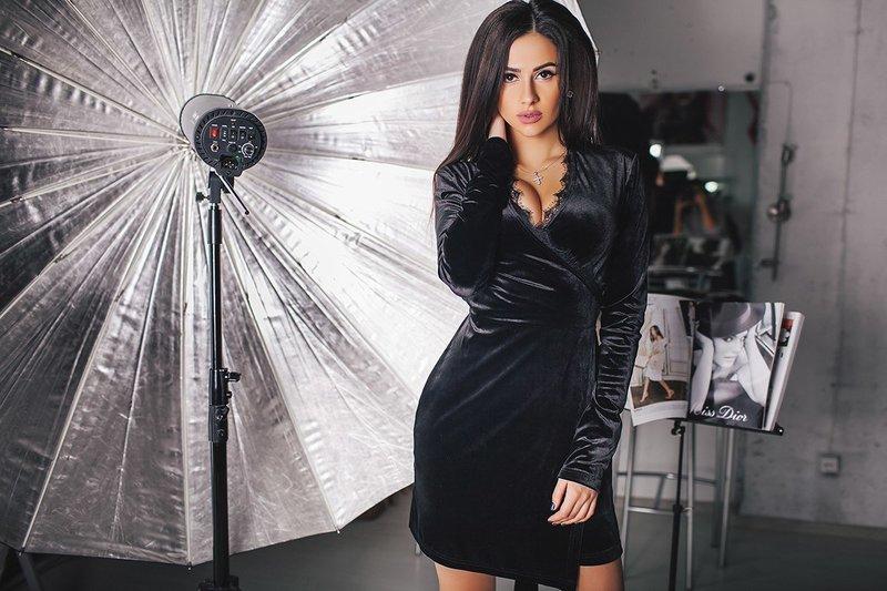 Короткие черные платья