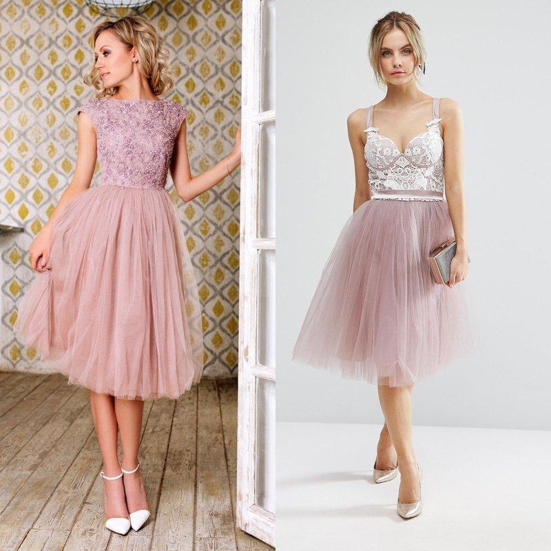 Платье с модной пышной юбкой