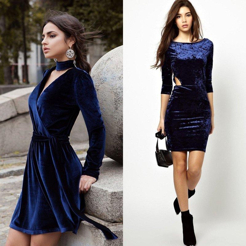 Вечерние бархатные платья