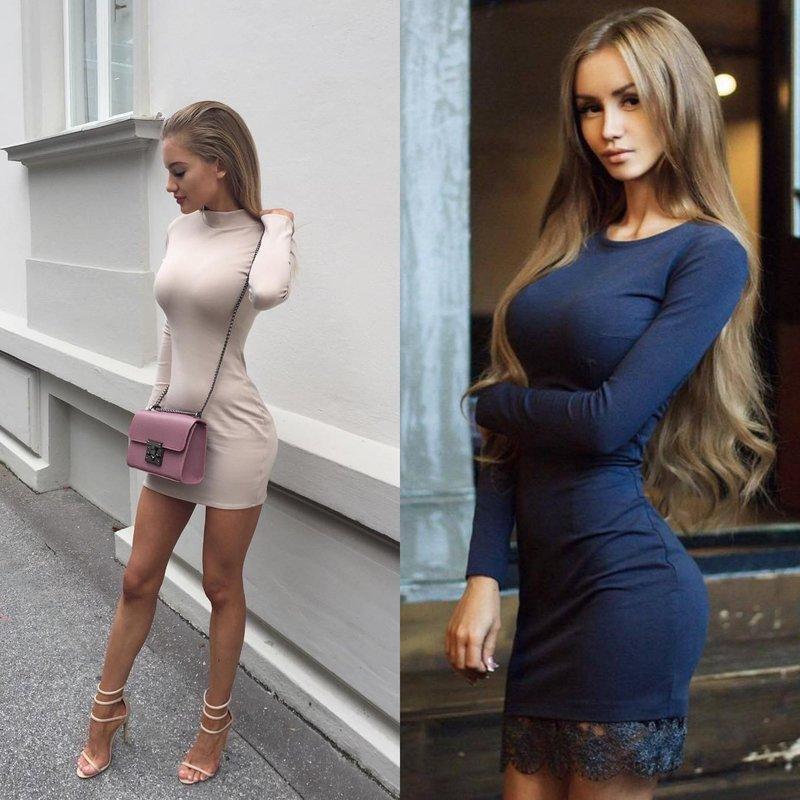 Вечерние платья облегающие