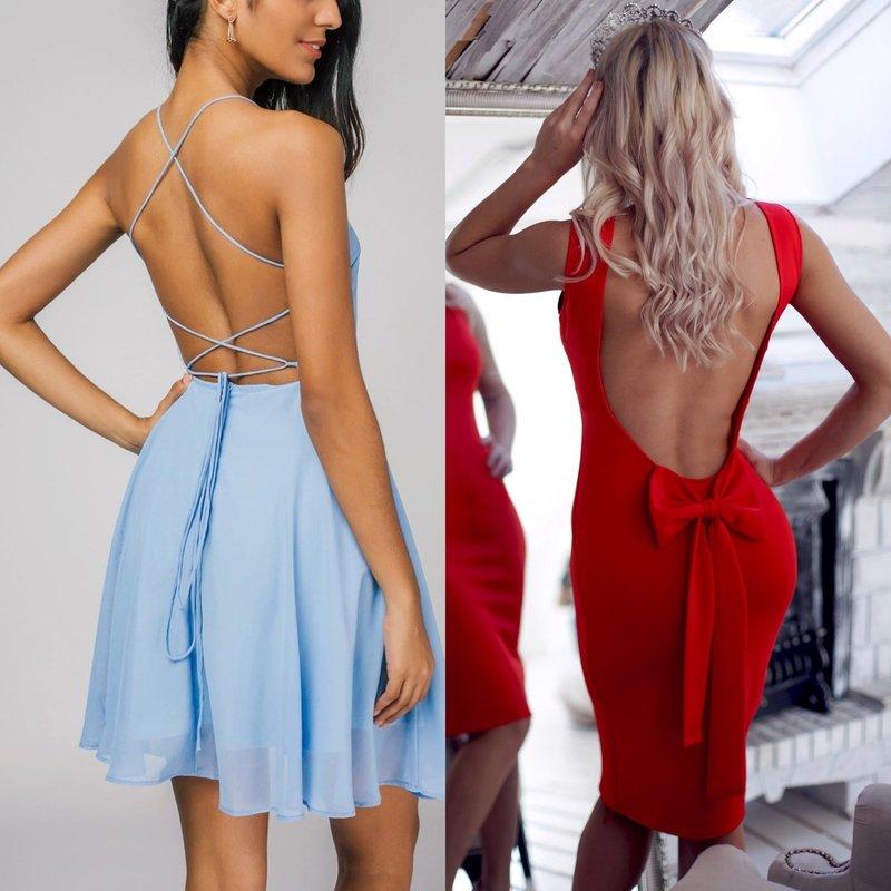 Стильные короткие платья