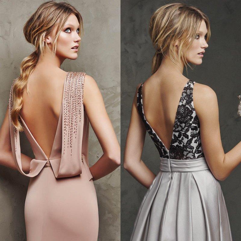 Элегантные наряды с открытой спиной
