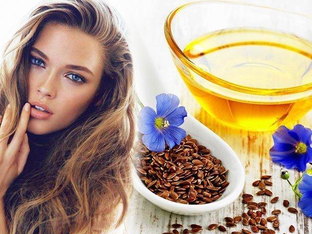 Льняное и оливковое масло для волос