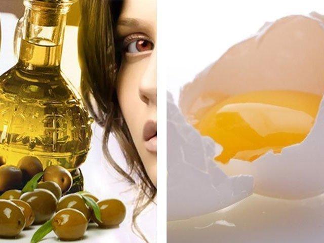 маска ромпшка и оливковое масло