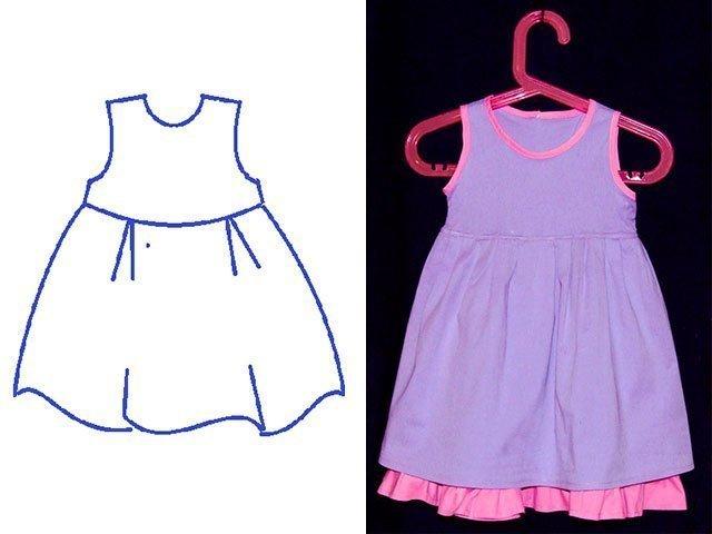 Как сшить платье своими руками ребенку быстро