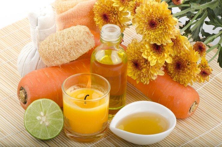 Ингредиенты для приготовления морковной маски