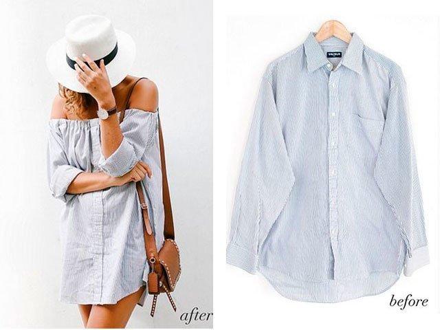 Выкройка рубашки из старой рубашки