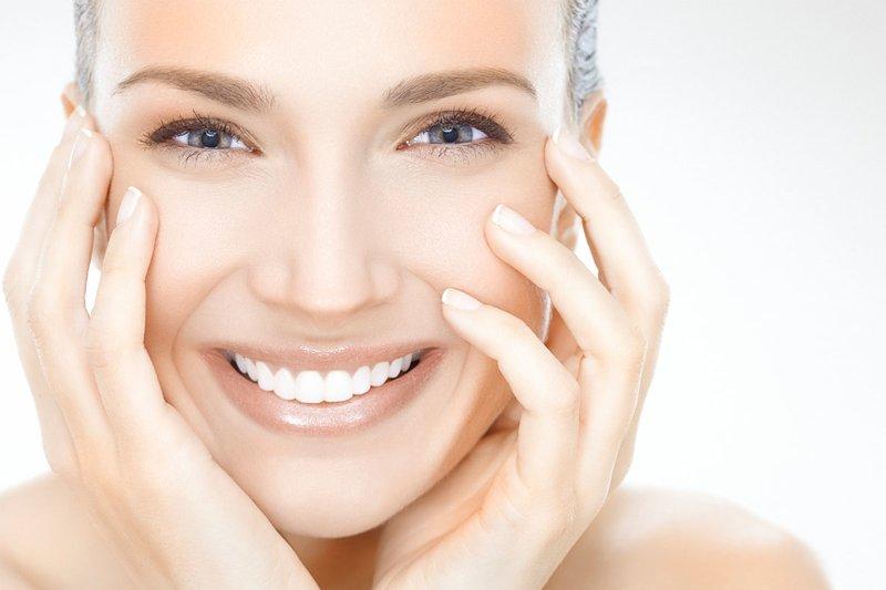 Чистая кожа лица после использования маски