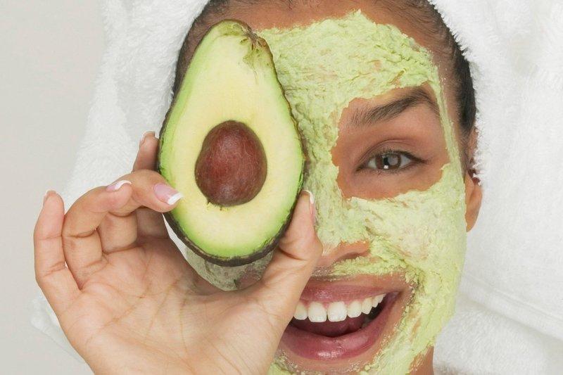 Маска для лица с авокадо