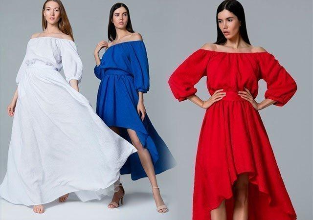 84e79925d1f88b8 1 Платье с открытыми плечами — фото модниц со всего мира
